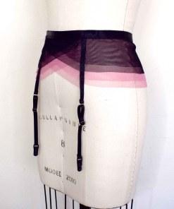 pink tulle garter belt