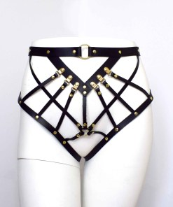 Strappy Leather Harness Brief