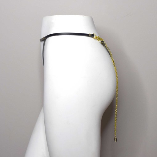 leather chain harness panty