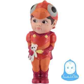 Sweetheart Dolls - Poupée garçon rétro super héro rouge et orange