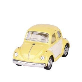 Mini voiture coccinelle jaune pastel Goki imitation Volkswagen