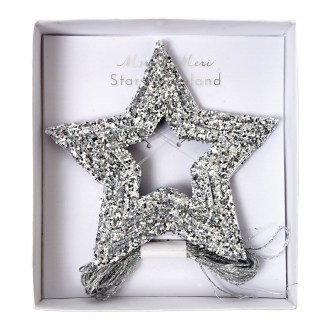 meri meri-guirlande étoiles argentées.