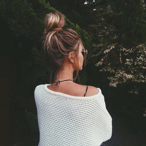 15 Messy Buns Hairstyles Hairstyles Amp Haircuts 2016 2017