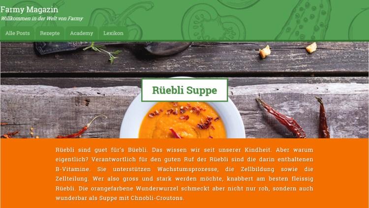 Rüebli Suppe von lovely.li auf farmy.ch