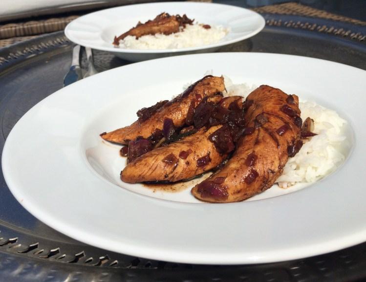 Balsamico Hühnchen mit Reis