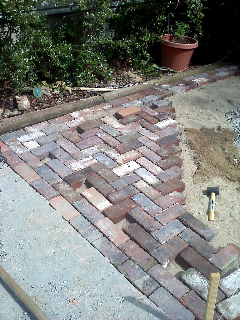 » Antique Brick Patio….DONE! on Backyard Masonry Ideas id=41627