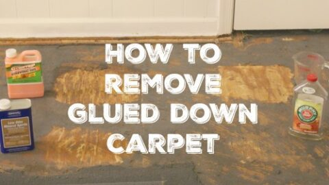 how to remove glued down carpet