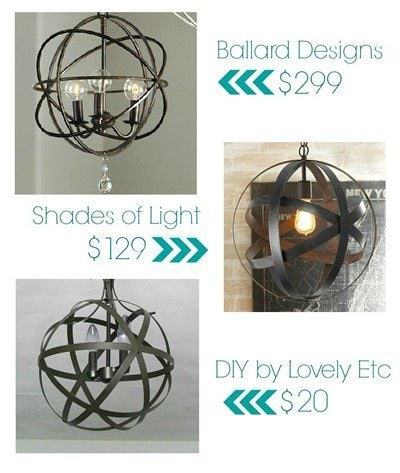 You Can Turn Any Old Outdated Light Fixture Into Your House A Beautiful Orb Chandelier