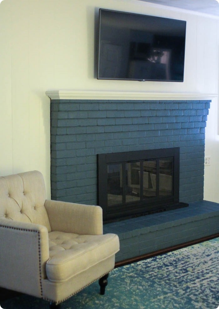 How Remove Paint Brick Fireplace