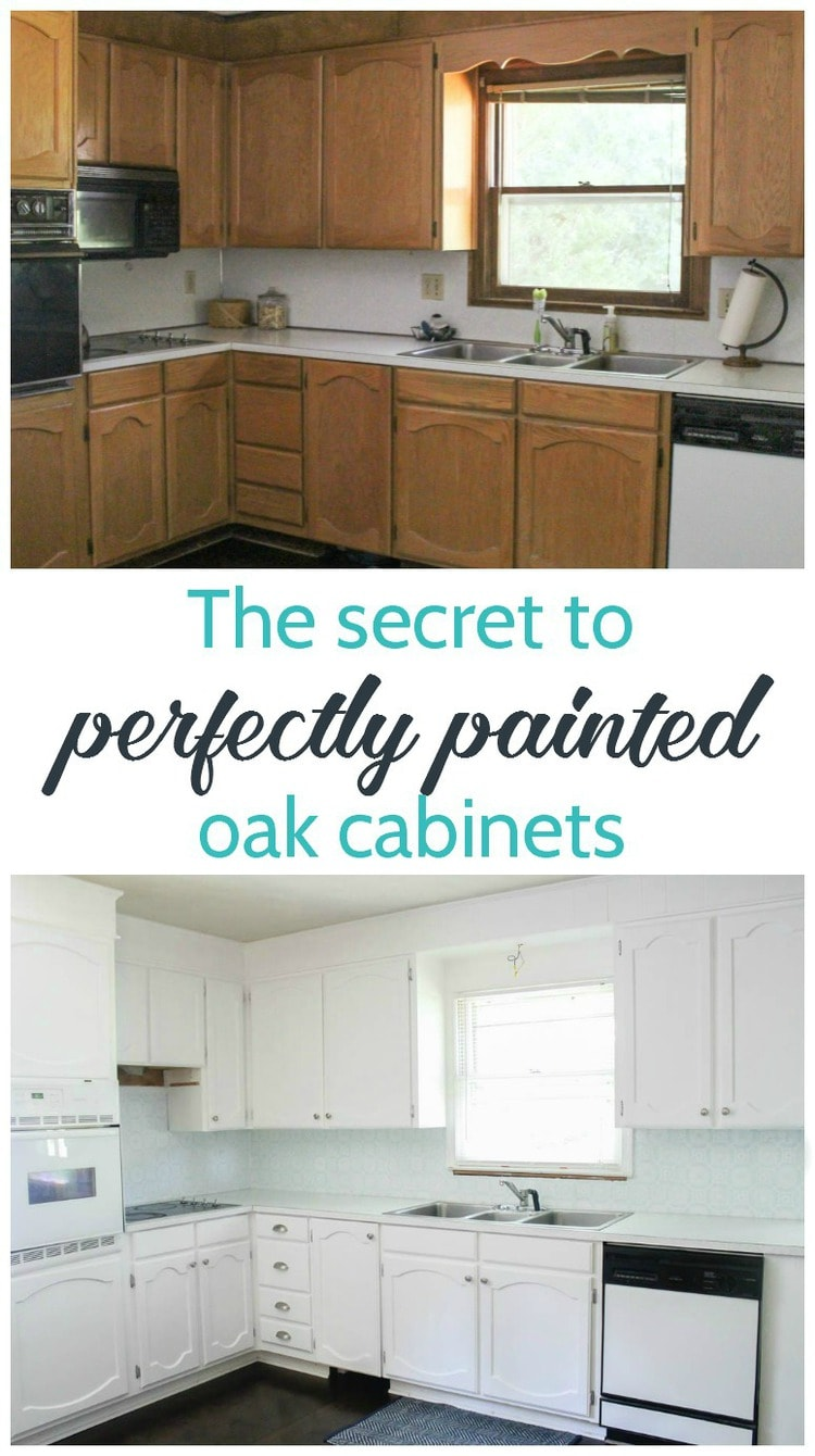 Best Kitchen Gallery: Painting Oak Cabi S White An Amazing Transformation Lovely Etc of How To Paint Oak Kitchen Cabinets on rachelxblog.com