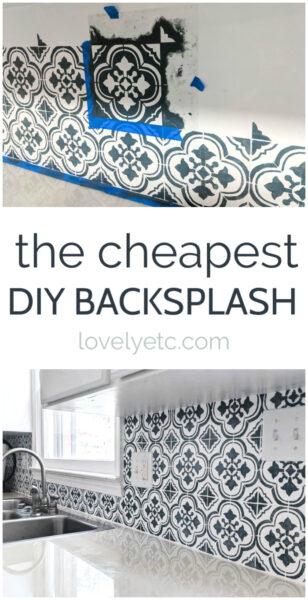 the cheapest diy backsplash ever
