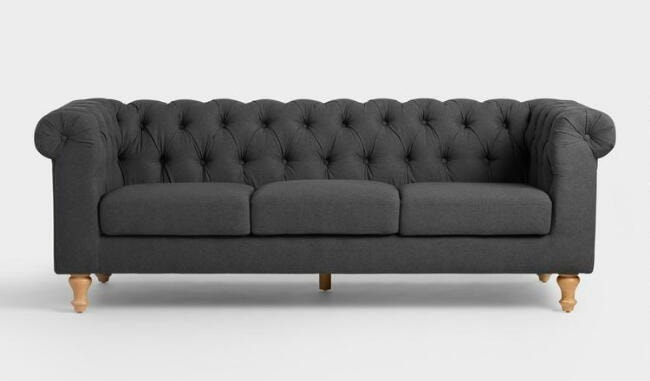 perfect inexpensive gray tufted sofa