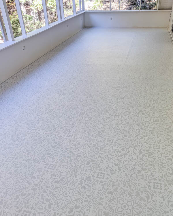 paint the most beautiful porch floor