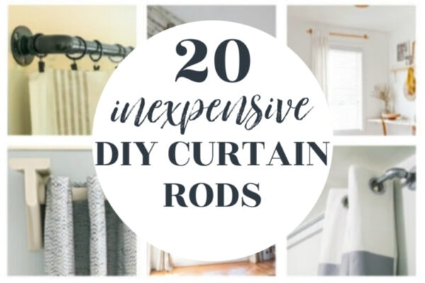 cheap curtain rods with diy finials