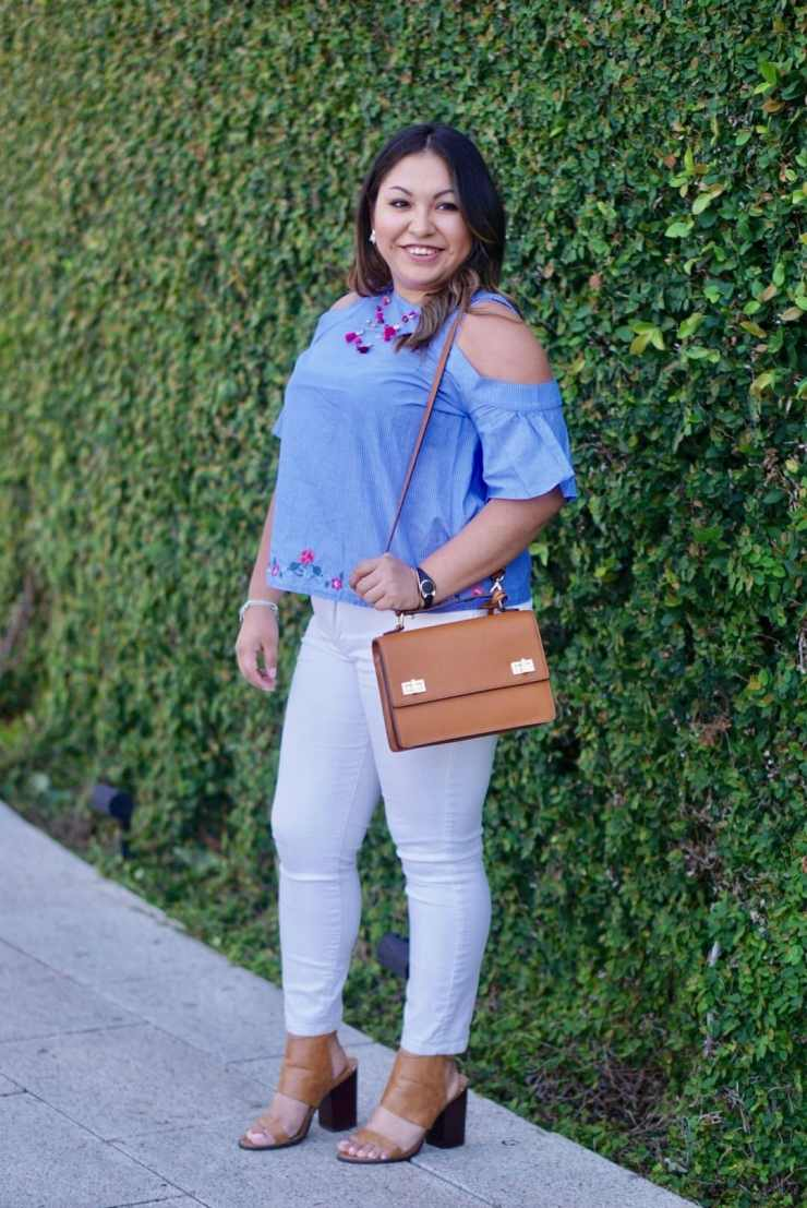 henri bendel bag, forever 21 shoes, AG jeans, express top
