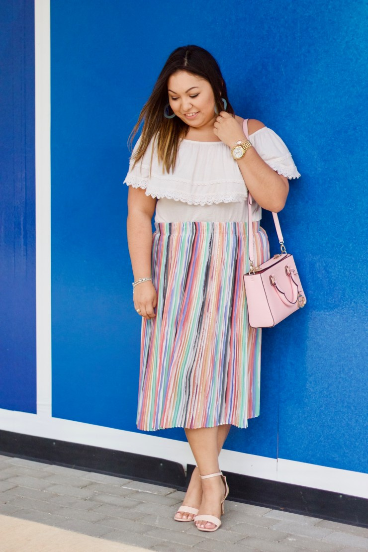 easter oufit, skirts for easter, how to style a colorful skirt, what to wear for easter,