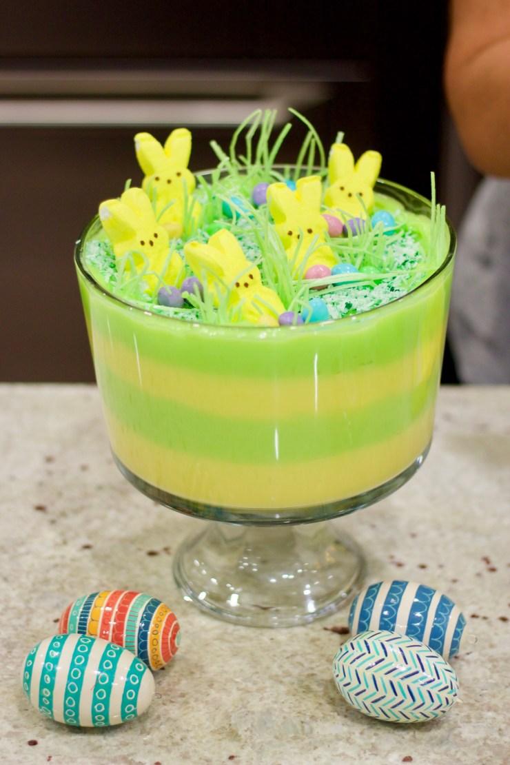 easter dessert, easter pudding dessert, easy easter dessert, easy trifle, kids trifle,