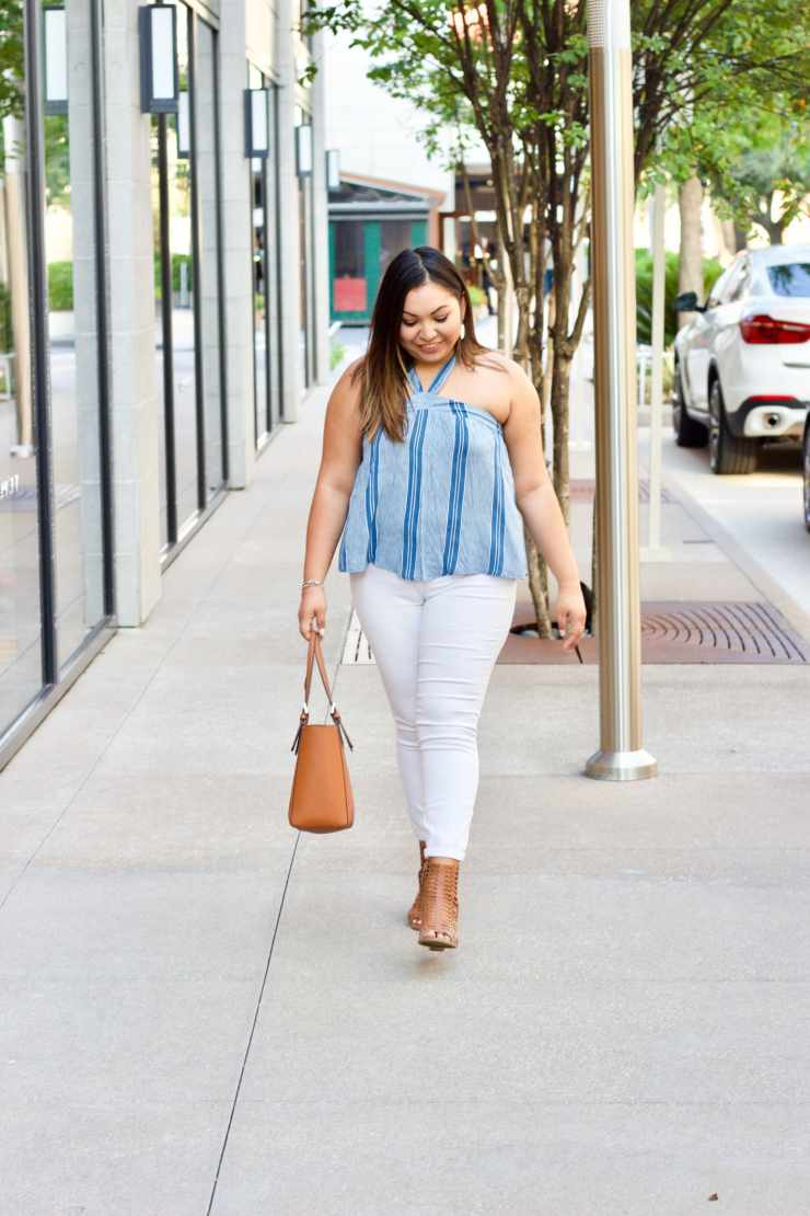 white denim for the summer, summer outfits, summer 2017