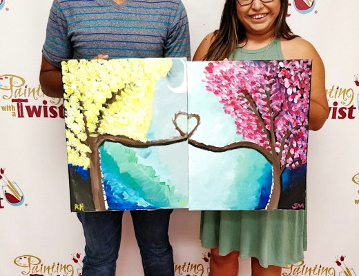 summer date, date night, painting with a twist, date ideas, love