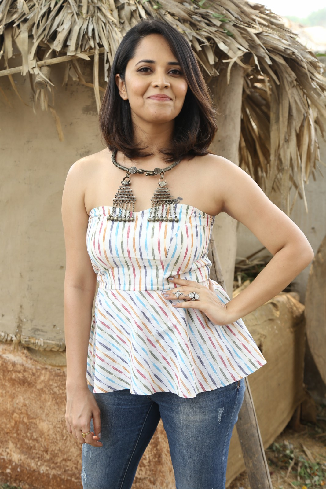 Anchor Anasuya At Rangasthalam Press Meet Stills