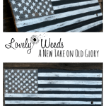 Black and white American flag tutorial, www.lovelyweeds.com