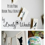 Easy DIY bunting using book pages, www.lovelyweeds.com