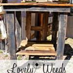 DIY Rustic Work Table, www.lovelyweeds.com
