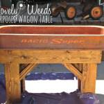 Repurposed Wagon Table, www.lovelyweeds.com