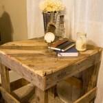 Rustic, diagonal top side table | www.lovelyweeds.com