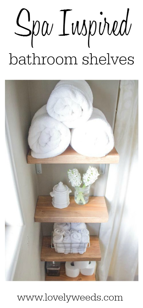 Diy Spa Bathroom Decor : Spa inspired bathroom shelves lovely weeds
