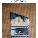 Make a cheap brush a little better (when it's all you've got!) {www.lovelyweeds.com}