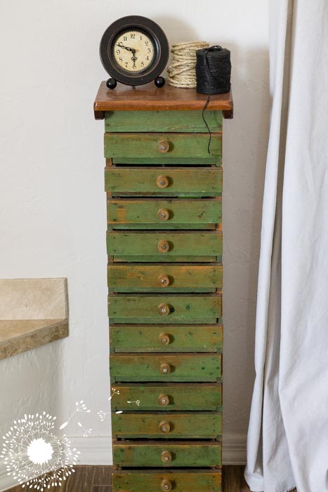 The coolest quirky set of drawers {www.lovelyweeds.com}