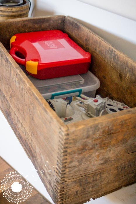 Crates are my favorite hiding places for my little ones' toys {www.lovelyweeds.com}