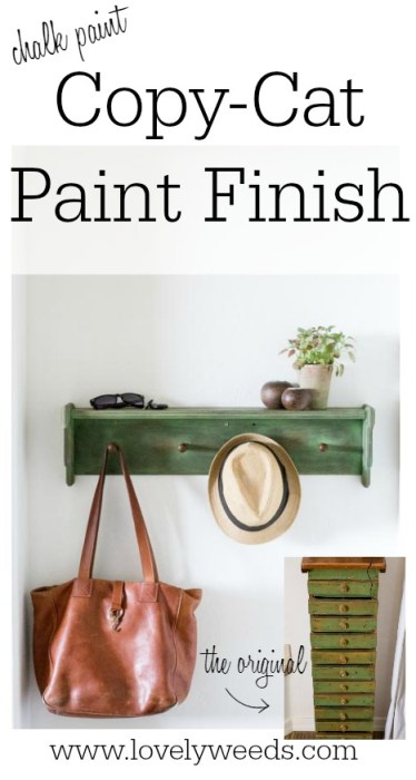 Chalk paint copycat paint finish {www.lovelyweeds.com}
