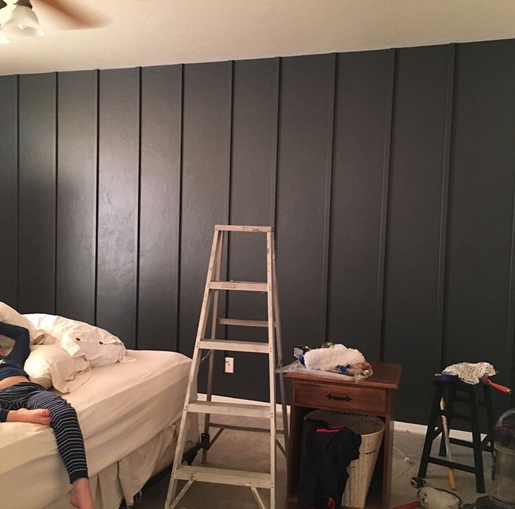 Board And Batten Accent Wall With Windows: Easy Board And Batten Accent Wall
