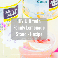 DIY Ultimate Family Lemonade Stand + Recipe + Printable