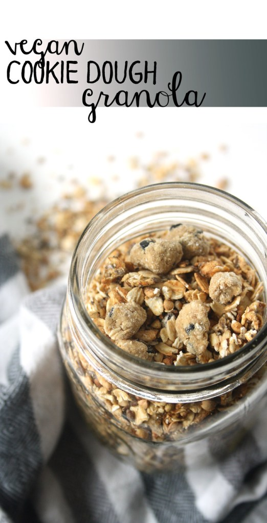 vegan cookie dough granola (oil and refined sugar free!) | love me, feed me