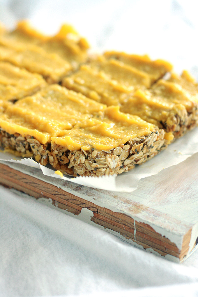 Mango Tahini Date Cereal Bars | love me, feed me