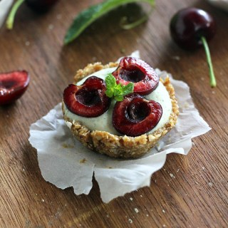 No Bake Mint Cherry Tarts
