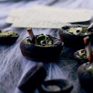 spooky cauldron brownies