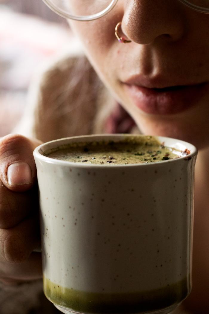 vegan matcha hot chocolate | love me, feed me