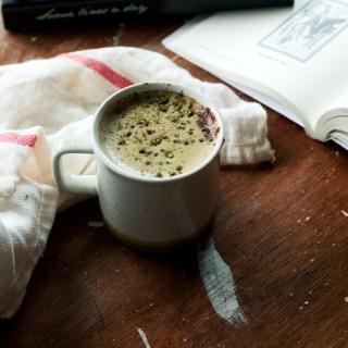 matcha hot chocolate