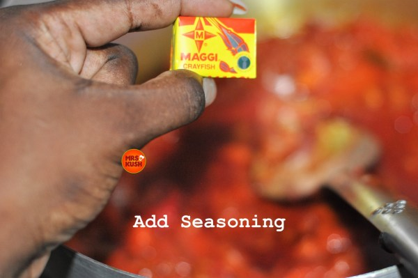 Add seasoning
