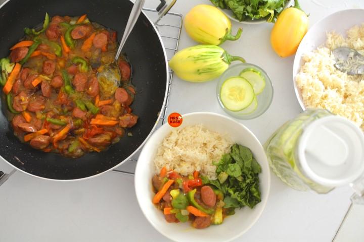Sausage Curry & Rice