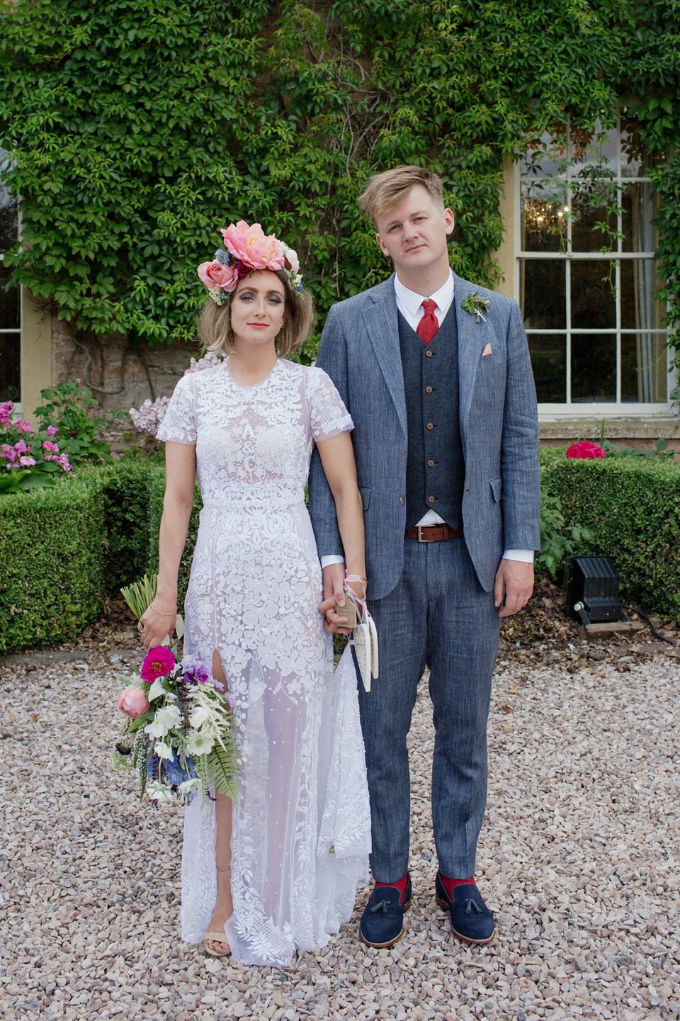 A hermione de paula gown for a modern quirky and alternative maunsel house wedding