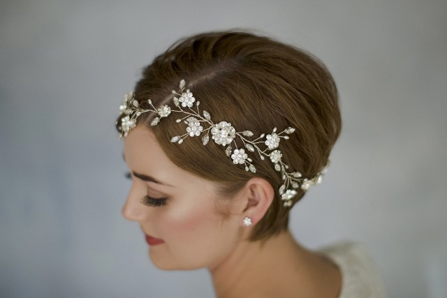 how to style wedding hair accessories with short hair | love