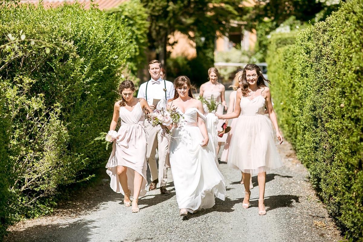 Elegant French Countryside Wedding: A Sarah Seven Dress For An Elegant Italian Countryside