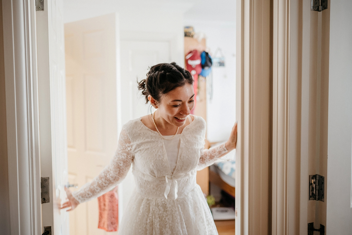 A 1950s Vintage Lace Gown For An Intimate And Quirky