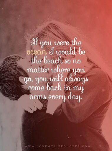 if you were the ocean- good morning love messages for girlfriend