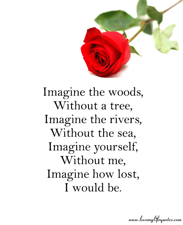 without you i would be lost love poem